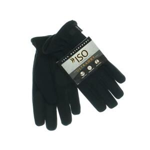 ISO Isotoner Ladies Microsuede Gloves ~ Size Large ~ Black ~ NWT