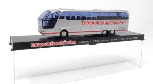 AWM H0 Train 1//87 Bus Neoplan N516 SHDL Starliner Europa Reisen Munich Case