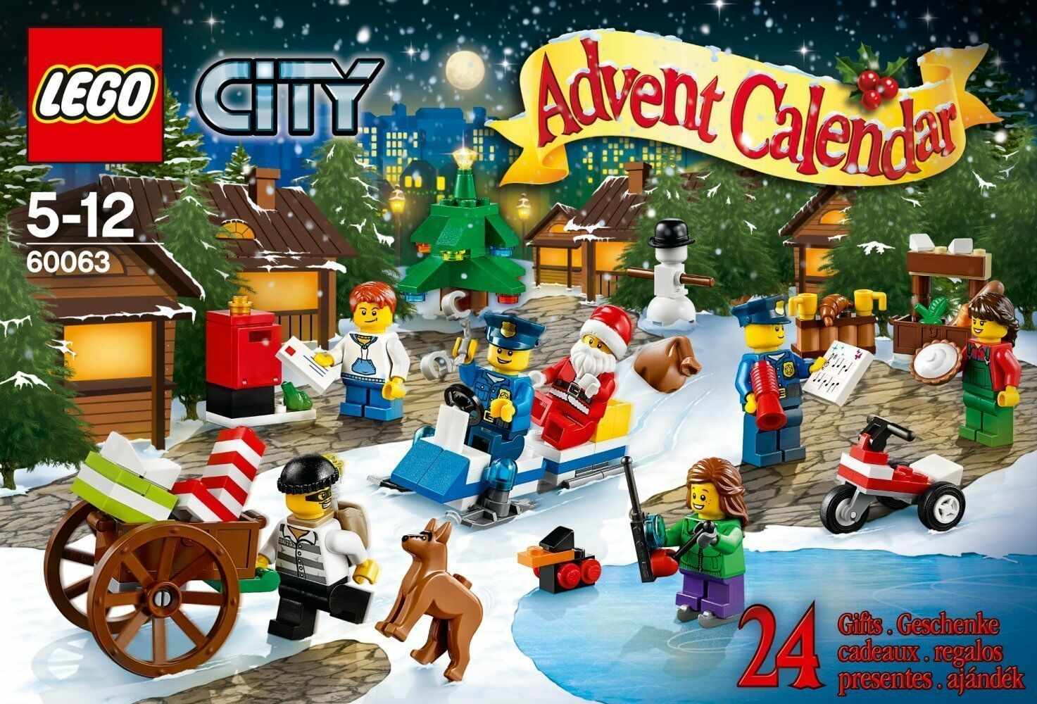 Lego City 60063 Advent Calendar 2014 New Ovp Misb