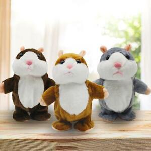 Kinder-Sprechende-Hamster-Kuscheltier-Plueschtier-Spielzeug-Talking-Toy-Maus-Fun