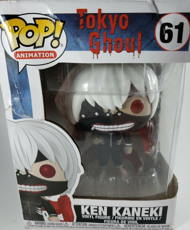 Tokyo Ghoul Funko Pop Animation Ken Kaneki Vinyl Figure 6371 w// Protector