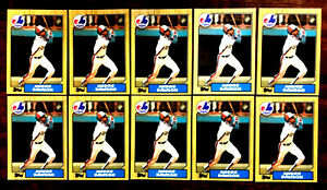 1987-Topps-345-TIFFANY-ANDRE-DAWSON-10-CARDS-LOT-HALL-OF-FAME-INDUCTEE