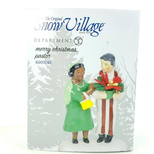 Dept 56 Snow Village Merry Christmas Pastor Church Lady Religious 6003145 NEW
