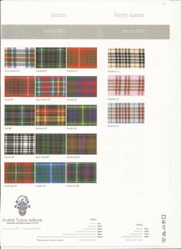 Berisfords Royal Stewart tartán escocés aprobado Cinta 7 10 16 25 40 70mm