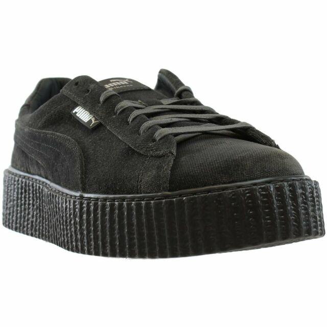 meet 3f286 c02d9 PUMA Mens Fenty by Rihanna Riri Black Creeper Velvet 36463903 SNEAKERS  Shoes 12
