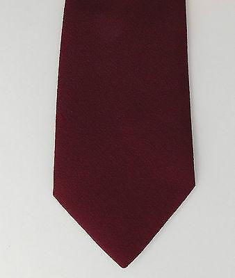 Allander tie vintage burgundy tie by House of Fraser 1970s 1980s