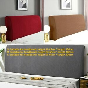 Details about Headboard Stretch Cover Change Dustproof Bed Head Bedding Bedspread Slipcover