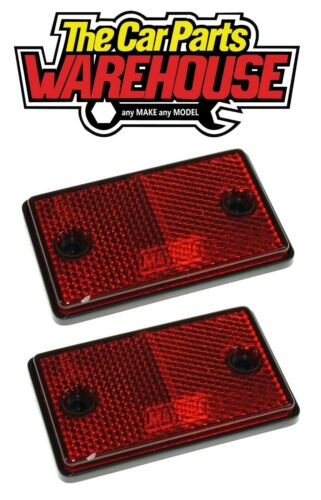 TWO Maypole Rear Red Trailer Driveway Reflector SCREW AND SELF ADHESIVE MP8722SS