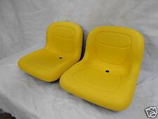 TWO YELLOW PIVOT STYLE SEATS JOHN DEERE CS GATORS < 39999 SERIAL NUMBER #OA