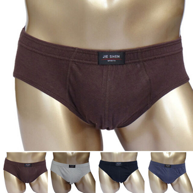 Male New Briefs Cotton Underwear Panties Large Size Knickers Bikini Underpants