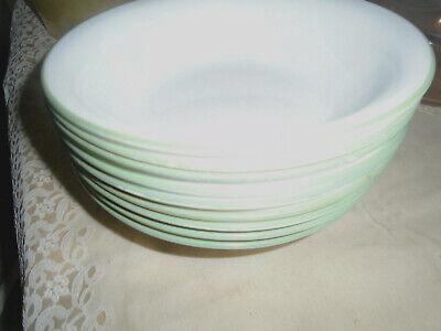 4 Centura Corning Solid White Rim Soup Pasta Bowls 9 Exc Condition VTG LOT s
