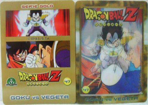 """Dragon Ball Z  /""""Goku Vs Vegeta/"""" Giochi Preziosi serie GOLD n° 47 lenticolare"""