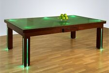 """8' VISION CONVERTIBLE POOL BILLIARD TABLE dining / office fusion - """"NEW YORK"""""""