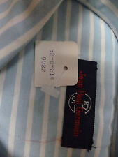 Jean-Paul-Germain  Shirt    Blue/Whte Stripe  Cotton   M    New in Pkg