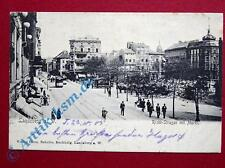 A Ansichtskarte Landsberg a. d. Warthe, Motiv : Richt-Strasse mit Markt 1905 gel