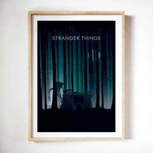 Home Decor Geek decor minimalist poster Stranger Things Wall art