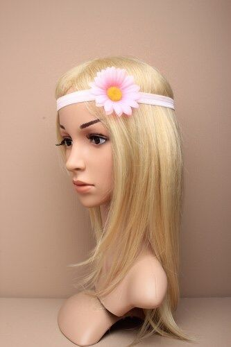 CHILDS LARGE FABRIC DAISY BANDEAUX BROW BAND HEADBAND
