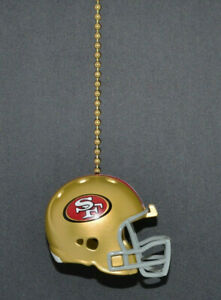 San Francisco 49ers Ceiling Fan Helmet Pull Chain New Ebay