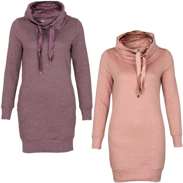 Only Damen Sweatshirt Onlbette Satin L/S Long Highneck Sweat