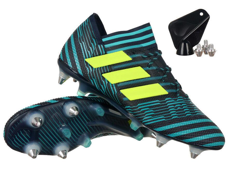 Para Hombre Adidas nemeziz 17.1 SG Zapatos de fútbol terreno blando Modificable Tachuelas Tacos