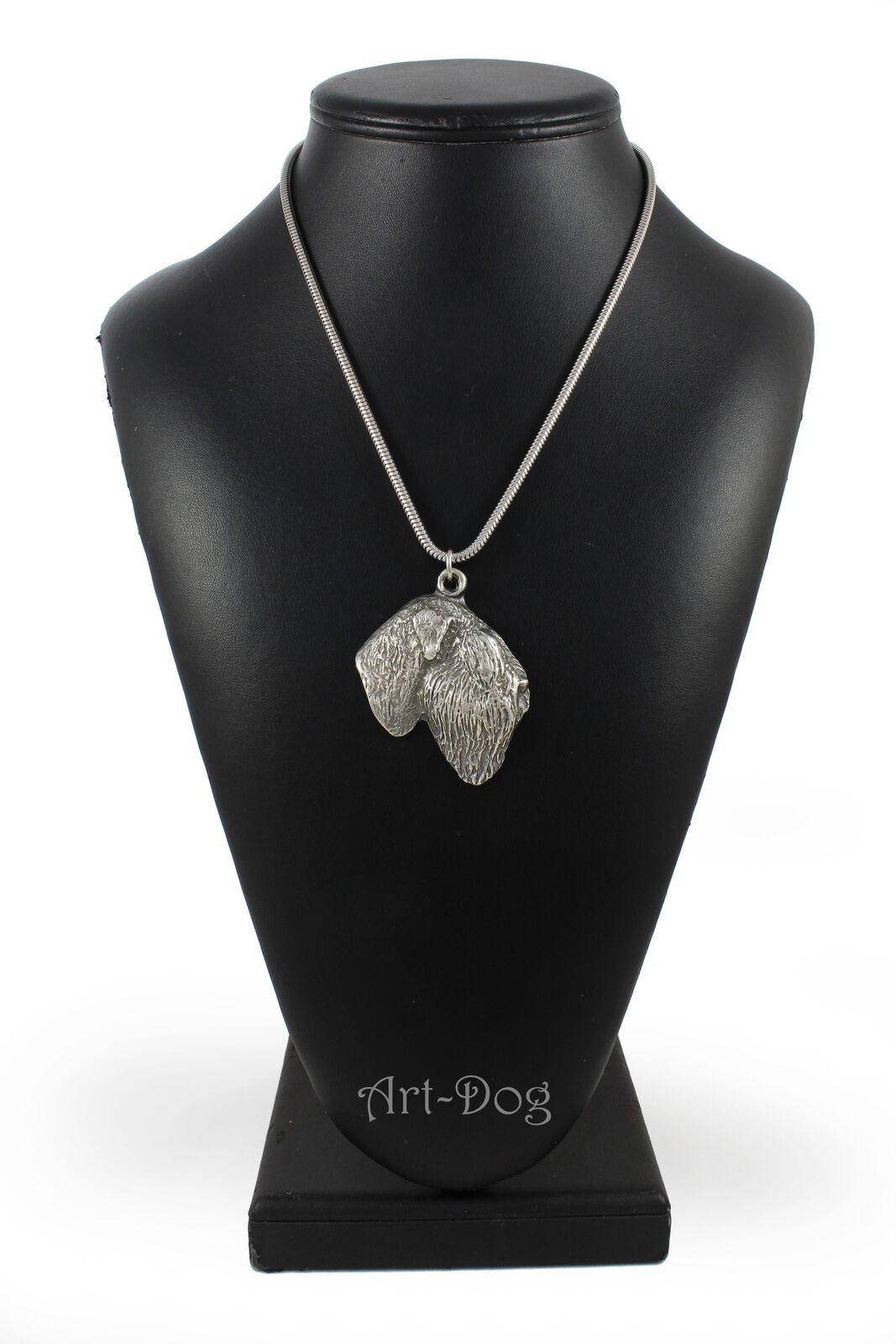 Terrier schwarz de Russie- Silber plaqué collier sur une cordon cordon cordon en Silber ArtDog FR 7afe41