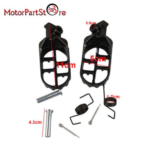 Race Wide Fat Foot Pegs for Honda CR CRF XR 50 70 80 100 150 Kawasaki KLR 650