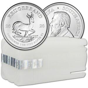 2020 South Africa Silver Krugerrand 1 oz 1 Rand - BU 1 Roll Twenty Five 25 Coins