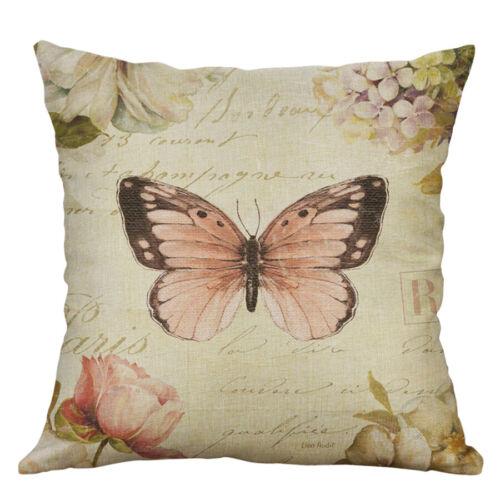"18/"" Retro Flower Pattern Home Decor Cotton Linen Pillow Case Throw Cushion Cover"