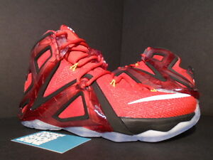 2f4ffcebf28eb 2015 Nike LEBRON XII 12 ELITE UNIVERSITY RED WHITE BLACK ORANGE ...