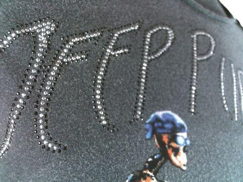 AMPLIFIED DEEP PURPLE Chopper Biker Skull Rock Strass Vintage Löcher T-Shirt S