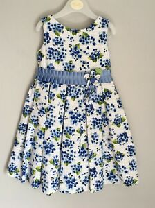 12c211d7e Abella Blue Floral Baby Dress Size 18-24 Months 2 Years BNWOT