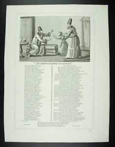 The-Custodian-Infidel-Fables-Jean-From-La-Fontaine-1834-Engraving-Print-Xixth