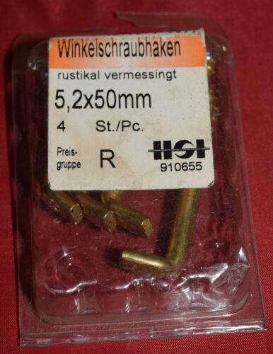 IDC 910655 angle crochets à visser 5,2x50mm rustique vermessigt b67