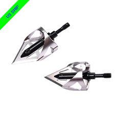 3X 100 Grain Broadheads 360 Cut for Archery Crossbow Targets Hunting Arrow Black