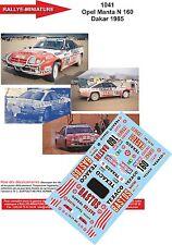DÉCALS  1/18 réf 1041 Opel Manta N 160 Dakar 1985