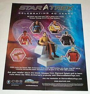 20x16 inch  2006 Star Trek action figures POSTER:Captain Kirk/Riker/Picard/Worf