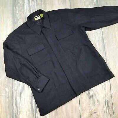 la26 Self-Conscious Cubarvera Sz L Men's Dark Gray Zip Front Wool Blend Long Sleeves Jacket Men's Clothing Clothing, Shoes & Accessories