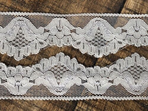 """laverslace Delicate Taupe Narrow Stretch Cut Out Lace Trim 1.25/""""//3.5cm Sewing"""