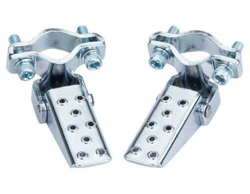 Bicycle Steel Foldable Folding Fork Foot Step Peg BMX Chrome MTB Bike