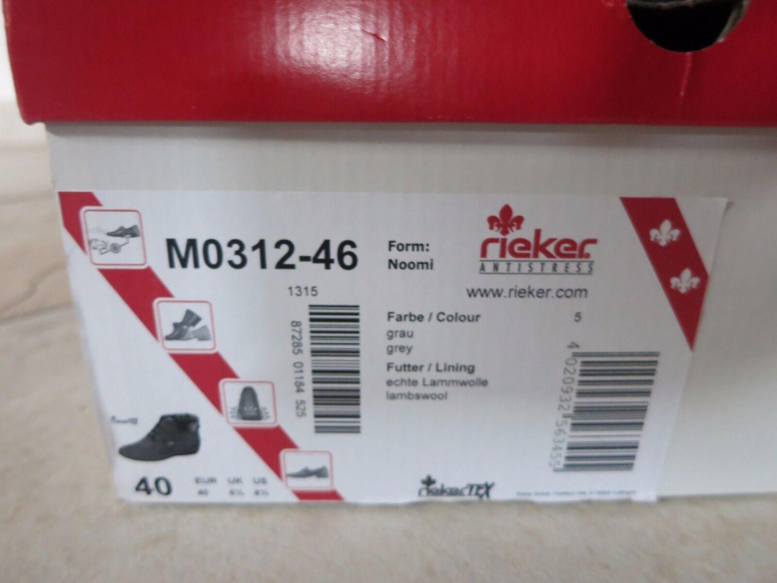 Rieker Antistress mit Gr. 40 Stiefel Neu mit Antistress Karton 5afea3