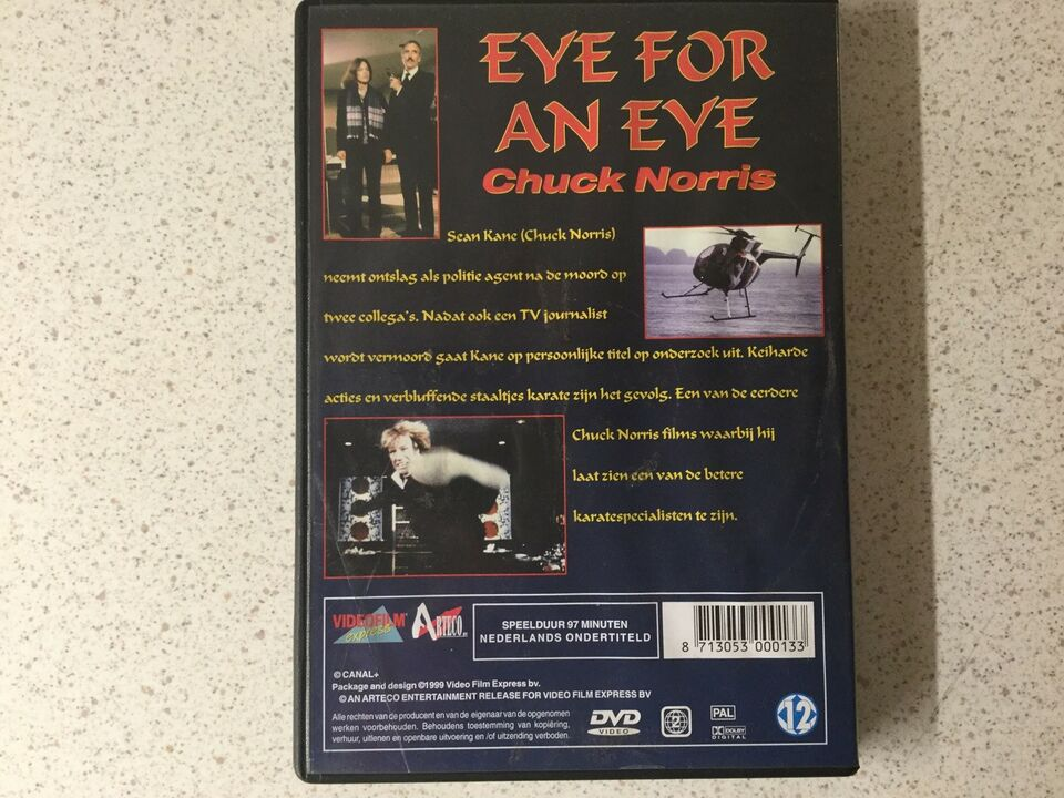 Eye for an eye , DVD, action