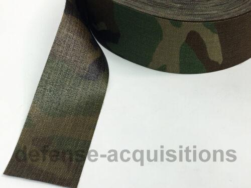 "60 YARDS OF 1000 Denier Fabric 2.25/"" Width Cordura Military WOODLAND CAMO"
