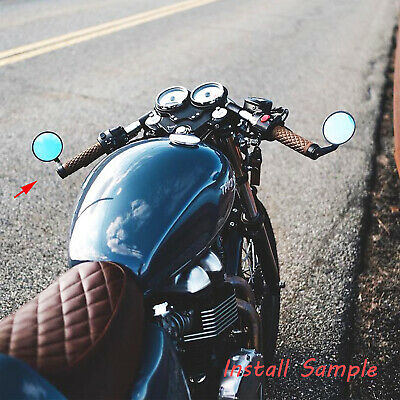 Sport Bike WASTUO Universal Round Bar End Convex Mirrors Fits Most Cafe Racers Touring Bikes Suzuki Kawasaki Cruisers Honda Electric Scooters with 7//8 Handle Bars