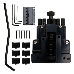 6 string saddle guitar tailpiece tremolo bridge for headless guitar replacement ebay. Black Bedroom Furniture Sets. Home Design Ideas