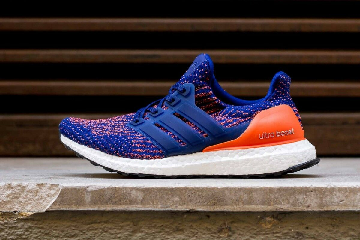 Adidas Ultra Boost 3.0 Mystery Ink Blue Orange Comfortable