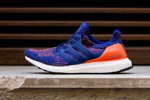 Details about Adidas Ultra Boost 3.0 Mystery Ink Blue Orange Size 12.5. S82020 Yeezy nmd 12 13