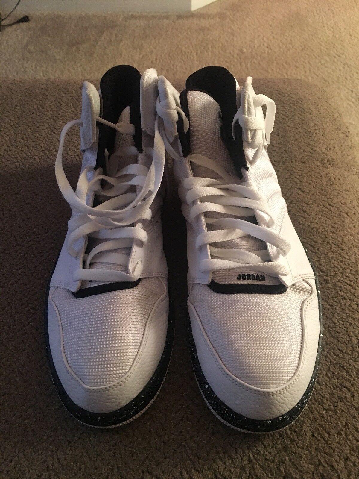 Mens Nike Air Size Jordans Flights - Size Air 11.5M Black/White f36d34