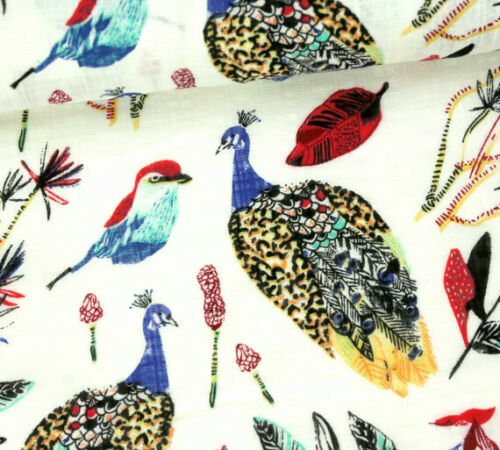 Pósters especiales-ligera-Leinen look-aves-pavo real-Spring Dream 0,5m