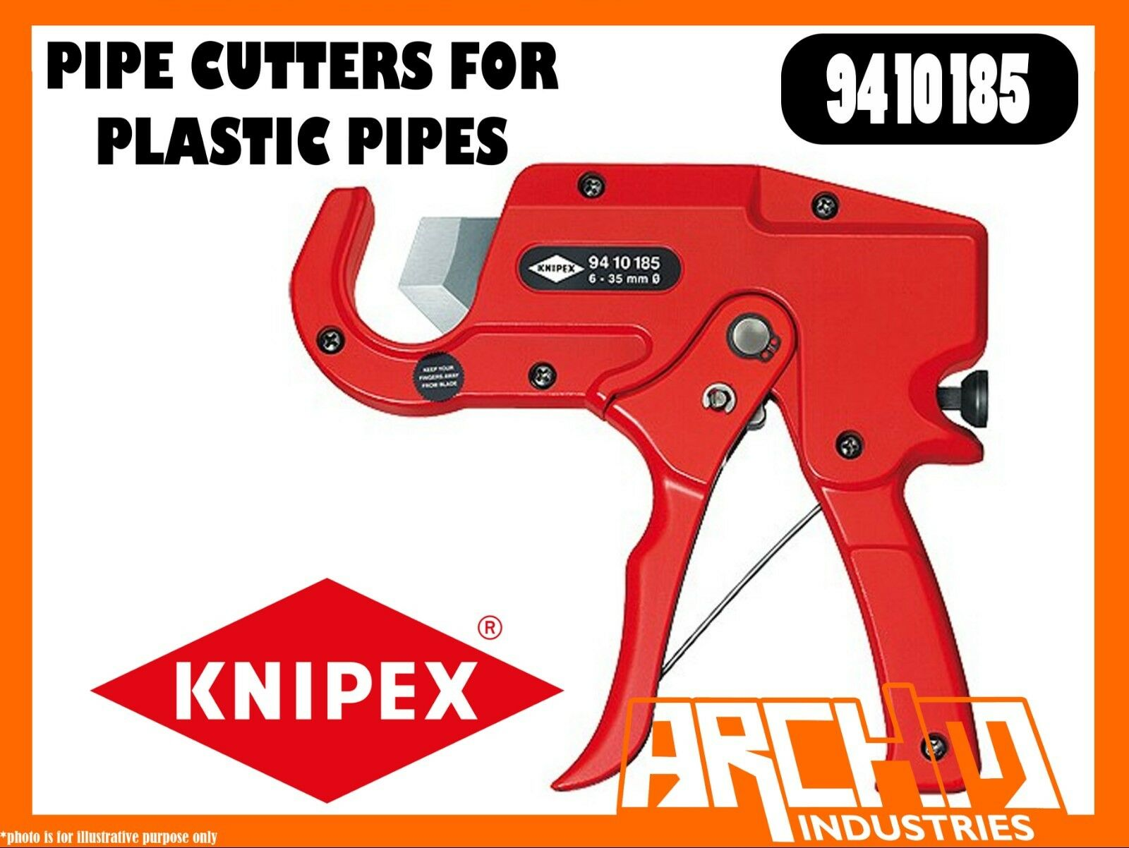 KNIPEX 9410185 - PIPE CUTTERS FOR PLASTIC PIPES - 185MM - CLEAN CUTTING BLADE