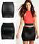 LADIES-WOMENS-WET-LOOK-LONG-SLEEVE-PVC-LEATHER-DRESS-BODYCON-TUNIC-TOP-SIZE-8-26 thumbnail 10